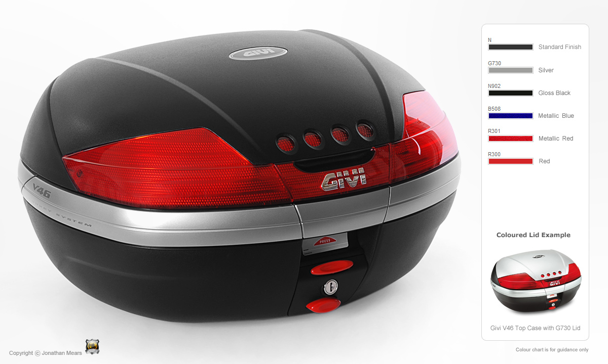 Led Lights For Motorcycle >> GIVI V46N Top Box Monokey - GIVI Top Cases - Monokey - GIVI Luggage