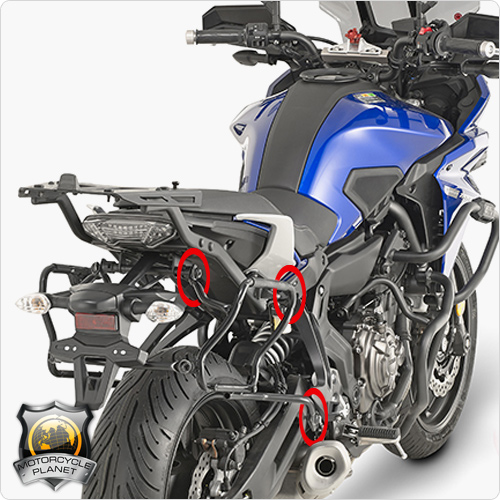 givi plxr2130 quick release pannier rack for yamaha mt 07. Black Bedroom Furniture Sets. Home Design Ideas